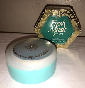NIB VTG Rare Jean Nate Charles of the Ritz FRESH  MUSK perfumed dusting powder