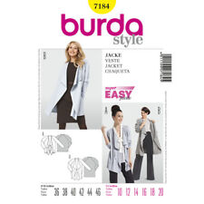 Burda Style Very Easy SEWING PATTERN 7184 Jacket With Draped Front 10-20