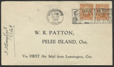1927 AAMC #2717, Leamington Ont to Pelee Island First Flight, Pilot Signed
