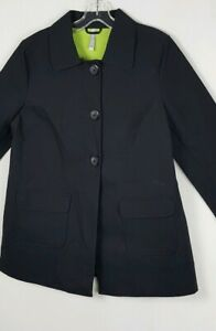 New Old Navy Womens Size M Black Coated Cotton Water Resistant Jacket Coat