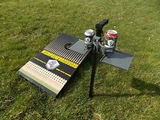 Backyard Games Stake with one Cup Holder and Tray | Corn Hole Game Stake