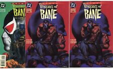 Batman: Vengeance of Bane Special #1 2nd Print (2 copies), #2  avg. NM 9.4  1993
