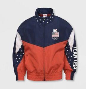 Girls' United States Olympic Team Windbreaker Jacket Hello Kitty Size XS (4/5)
