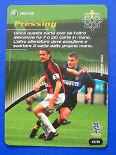 CARD FOOTBALL CHAMPIONS 2001-02 - 43/80 - PRESSING - VIERI/MALDINI