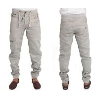 ETO EM474 Men's Cuffed Jogger Regular Fit Designer Jeans Casual Denim Pants