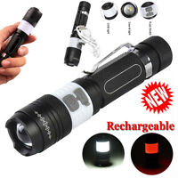 5000LM Tactical Zoom XML T6 LED 18650 Flashlight Hunting Camp Torches Lamp Light