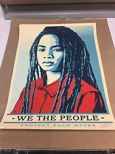 OBEY GIANT SHEPARD FAIREY PROTECT EACH OTHER 18X24 SIGNED ED. 450 WE THE PEOPLE