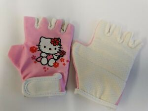 Hello Kitty infants kids pink one size bike cycling gloves