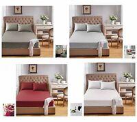 800 TC Egyptian Cotton Split King Long Single 2 PCs Fitted Sheet+2pc Pillowcase