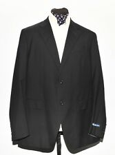 NEW MEN RALPH LAUREN WOOL SUIT MADE IN ITALY BLACK 44R/40W