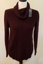 Abercrombie & Fitch Plum Purple Cowl Neck Sweater Tunic Size M ~NEW~