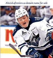 alexislafreniere.ca hockey player domain name Alexis Lafreniere website