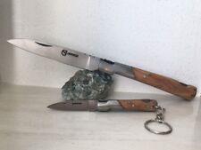 Couteau de poche CORSE Vendetta Corsica et son porte clé avec manche en bois