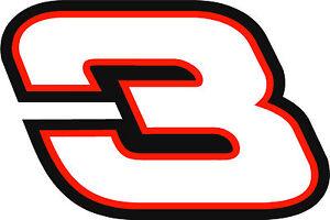 NEW FOR 2018 - #3 Austin Dillon Racing Sticker Decal - SM thru XL -Various color