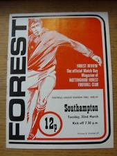 22/03/1977 Nottingham Forest v Southampton  (Faint Fold, Sub Noted)