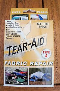 TEAR AID BACK PACK REPAIR - Nylon, Canvas, Fabric Repair Kit - Suits All Colours