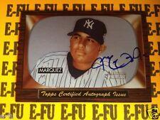 2004 Bowman Heritage JEFF MARQUEZ Autograph RC # SGA-JM New York Yankees Auto