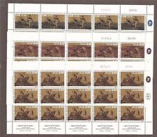 Israel 1976 Pioneers Full Sheet Set Scott 616-620  Bale 656-660