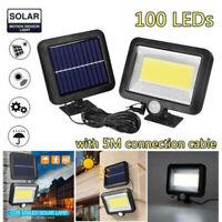 100 Cob LED Energía Solar Pared Luz Jardín Exterior Seguridad Sensor Movimiento