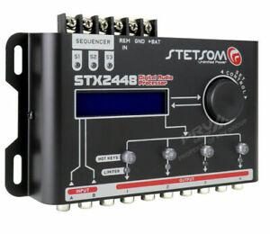 Stetsom STX2448 Crossover & EQ 4 Ch DSP Digital Sound Processor with Sequencer