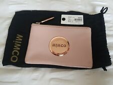 Mimco Mim Pouch In Blossom Pink With Rose Gold Blush Patent Leather