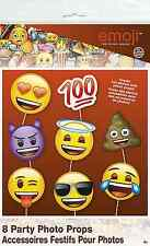 Emoji Party Supplies - Emoji Faces Photo Booth Props 8pc