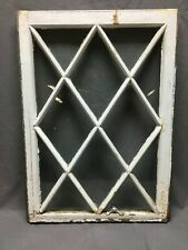 Antique Diamond Window Sash Shabby Cottage Chic Old 24x33 Vtg 12 Lite 108-20B