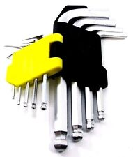Bergen US Pro 9pc Short Ball Point Hex Keys - Hex Set Allen 1516 / 2083  Quality