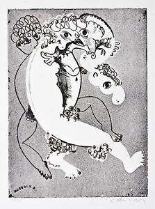 ARTHUR BOYD (1920 - 1999) Early Original Published Etching White Figure 1968