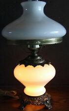 Vintage Gone with the Wind Style Electric Hurricane Lamp: Lighted Base, USA, VGC