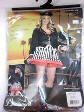 Plus Size 1X-2X Women's Buccaneer Pirate Dress Costume Cosplay Halloween Sexy
