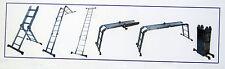 Mehrzwecksprossenleiter mit Einlegeboden Leiter Gerüst Arbeitsbühne NEU/OVP