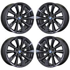 "19"" BMW X5 X6 BLACK CHROME WHEELS RIMS FACTORY OEM 2016 2017 2018 SET 86260"
