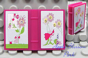 NEW Lego Minifig Pink FAIRY DIARY - Magenta Belville Elf Friends 2x3 Book 7579