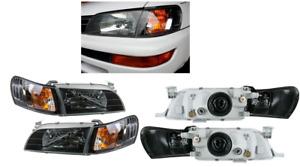 Toyota Corolla AE100 AE101 E100 SEG Crystal Black Head Lights Corner Lamps