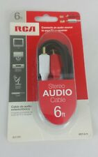 New listing Rca Ah19 6 Ft. Stereo Hook Up Cable with Rca Plugs Nib