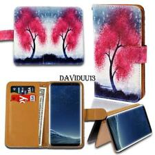 For Various Samsung Galaxy Phones - Leather Wallet Card Stand Flip Case Cover