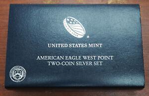 2013-W American Eagle Two Coin Silver Set; US Mint w/Box & COA  PCGS