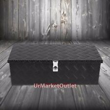 "30""x13""x10"" Black Pickup/Trailer Trunk Bed Utility Storage Flat Tool Box+Lock"
