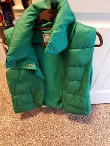Green puffer vest, Old Navy