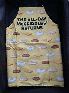 "McDonalds Adjustable stripe Apron - ""The All-Day McGriddles Returns"""