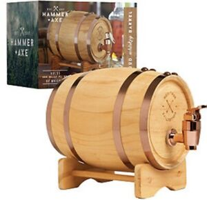 Hammer + Axe ~ Wood Whiskey Barrell!!  NIB!!