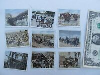 Nice Lot of 9 Original Dated WWI German Military Cigarette Cards, Salem, WWII,