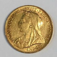 1900-M Great Britain Sovereign Gold Coin - High Quality Scans #C871