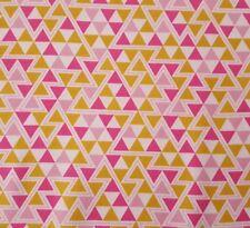 Wander Bty Joel Dewberry FreeSpirit Triangles Geometric Pink Gold White