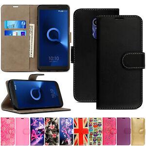 Case For Alcatel 1 2019 3C 3V U5 3L 2020 1S 1SE Leather Wallet Flip Phone Cover