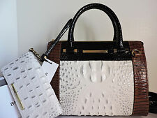 Brahmin Anywhere Convertible Halo Amado Leather Tote Bag + Debra Wallet NWT