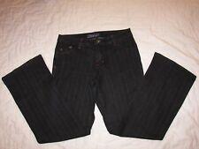 Women's Baccini Black Pinstripe Stretch Denim Jeans - 6P