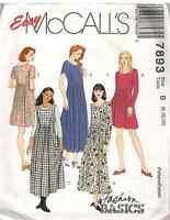 7893 UNCUT McCalls Vintage SEWING Pattern Loose Fitting Pullover Dress OOP SEW
