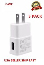 5-Pack 2AMP USB POWER ADAPTER WALL CHARGER For Universal SAMSUNG LG HTC PHONE